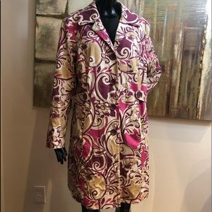 Lane Bryant Jacket Floral Mutli-Color Lined 18